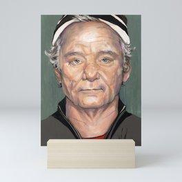 Bill Murray in Beanie Painted Portrait Mini Art Print