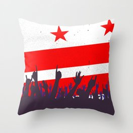 Washington DC Flag with Audience Throw Pillow