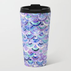 Marble Mosaic in Amethyst and Lapis Lazuli Travel Mug