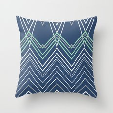 Navy Chevy Throw Pillow
