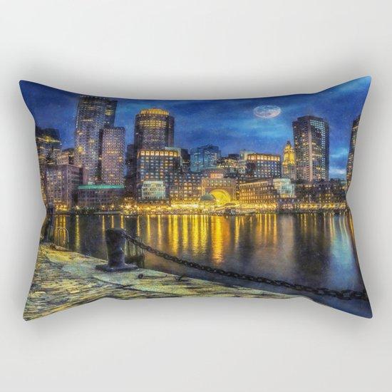 Downtown At Night Rectangular Pillow