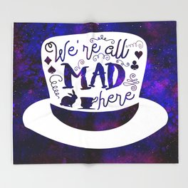 Alice In Wonderland - Mad Hatter Throw Blanket