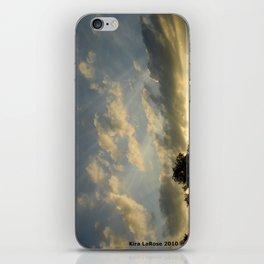 August skies falling into dark iPhone Skin