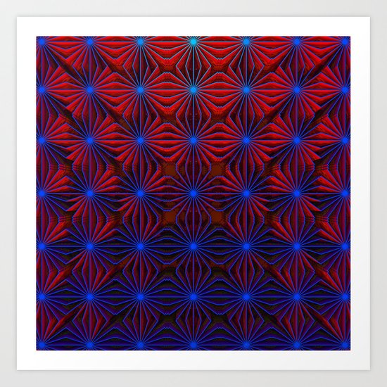 Complexities in Blue and Red Art Print