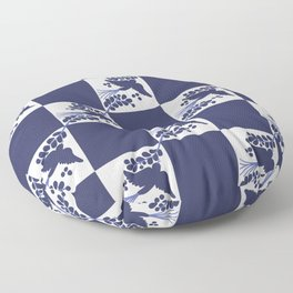 Talavera Blue Bird Floor Pillow