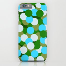 Abstraction_DOTS_GREEN_BLUE_COLOR_03 iPhone Case