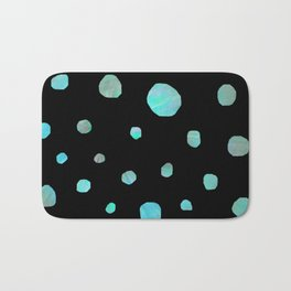 Blue meteorites Bath Mat