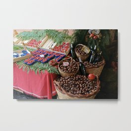 Fruit and Wine Metal Print