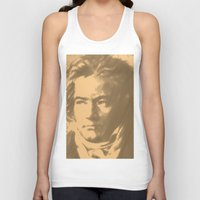 beethoven Tank Tops featuring Beethoven Portrait  by Cool Prints