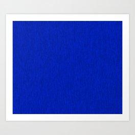 Blue Fibre Art Print