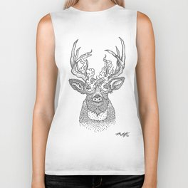 Smoking Deer Biker Tank