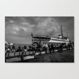 Istanbul: A Fusion of Black and White Canvas Print