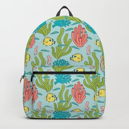 Tropical Fish and Coral Reef in Pastel Backpack