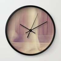 decal Wall Clocks featuring Motion by Charlene McCoy