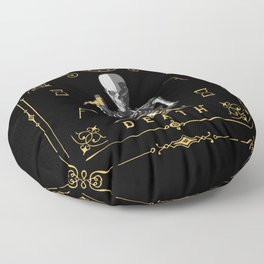 Death XIII Tarot Card Floor Pillow