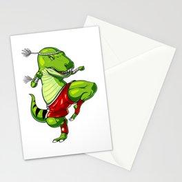 Muay Thai T-Rex Dinosaur Stationery Cards