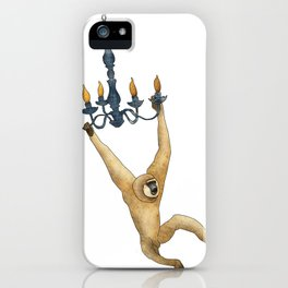 meet the gibbon. iPhone Case