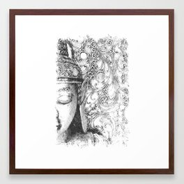 Buddha Sketch Framed Art Print