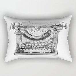 Vintage Typewriter Watercolor Rectangular Pillow