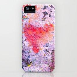 Lavender Hearts iPhone Case
