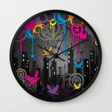 Vector City Grunge. Wall Clock