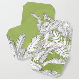 Banana Leaves Illustration - Green Coaster