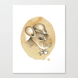 Gentleman Chinchilla Canvas Print