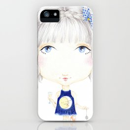 Moon Kiss iPhone Case