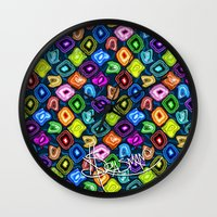 geode Wall Clocks featuring Geode Delight! by Sylvie Heasman