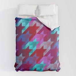 gradient origami houndstooth Comforters