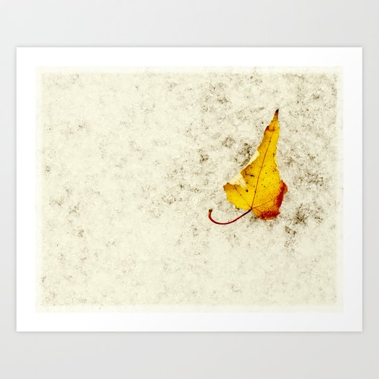 a bit of yellow Art Print
