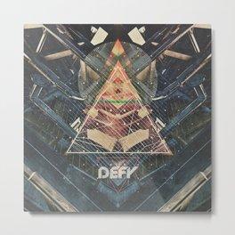 DEFY ∆ V01 Metal Print