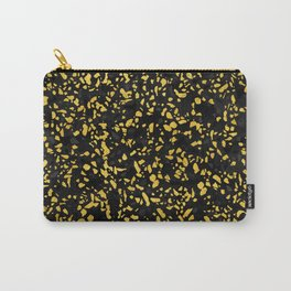 Terrazzo Memphis black grey gold Carry-All Pouch