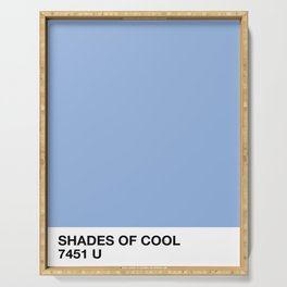 shades of cool Serving Tray