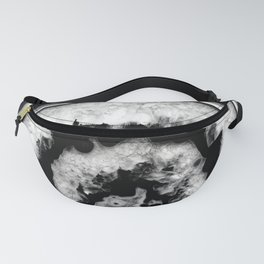Gray Black White Agate #1 #gem #decor #art #society6 Fanny Pack