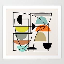 Mid Century Modern Bowls Art Print