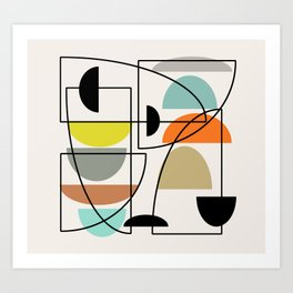 "Mid Century Modern ""Bowls"" Art Print"