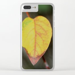 Red and Yelow Leaf Clear iPhone Case