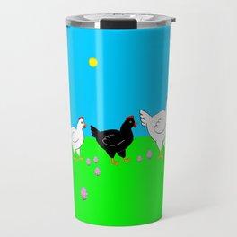 Hens and eggs Travel Mug