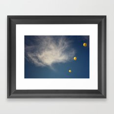 yellow & blue Framed Art Print