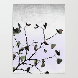 abstract cold leaves Poster