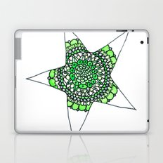 Green Superstar Mandala Star Laptop & iPad Skin