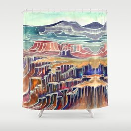 Canyonlands  Kat Ryalls Shower Curtain