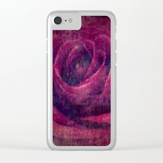 Passion Rose Clear iPhone Case