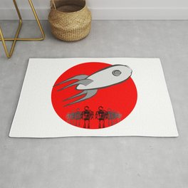 Starship and Robots Rug