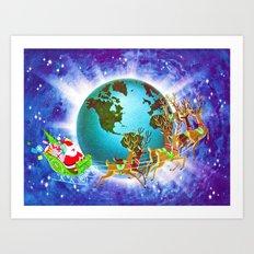 Global Santa Art Print