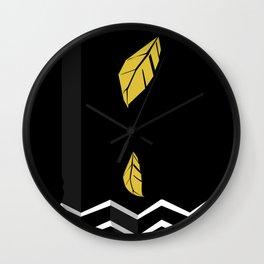 Meraki Fall [Gold Noir] Wall Clock