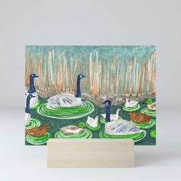 Water Friends drawing by Amanda Laurel Atkins Mini Art Print