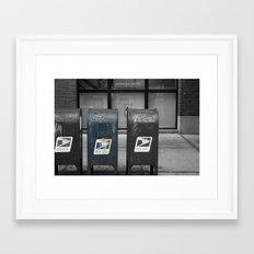chicago mailboxes Framed Art Print