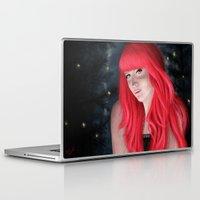 fireflies Laptop & iPad Skins featuring Fireflies by GrazilDesign